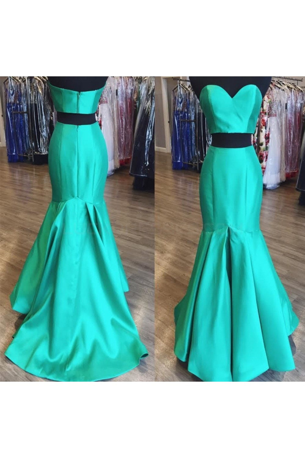 Mermaid Sweetheart Two Pieces Prom Formal Evening Party Dresses 3021437