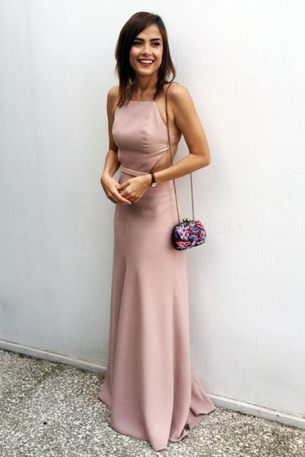 Long Spaghetti Straps Prom Formal Evening Party Dresses