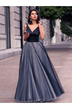 A-Line V-Neck Long Prom Formal Evening Party Dresses 3021476