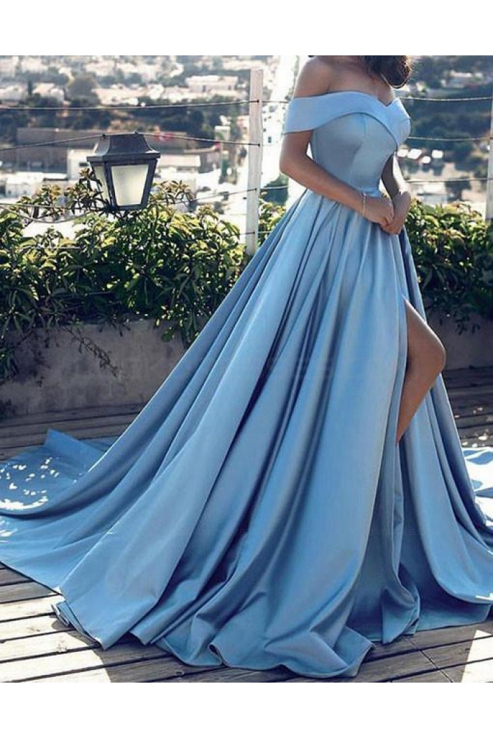 Long Prom Dresses Off-the-Shoulder Evening Gowns 3021531