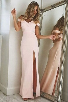 Elegant Off-the-Shoulder Long Prom Evening Formal Dresses with Side Slit 3021537