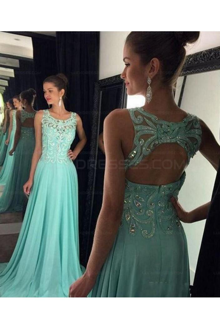 Elegant Beaded Long Chiffon Prom Evening Formal Dresses 3021567