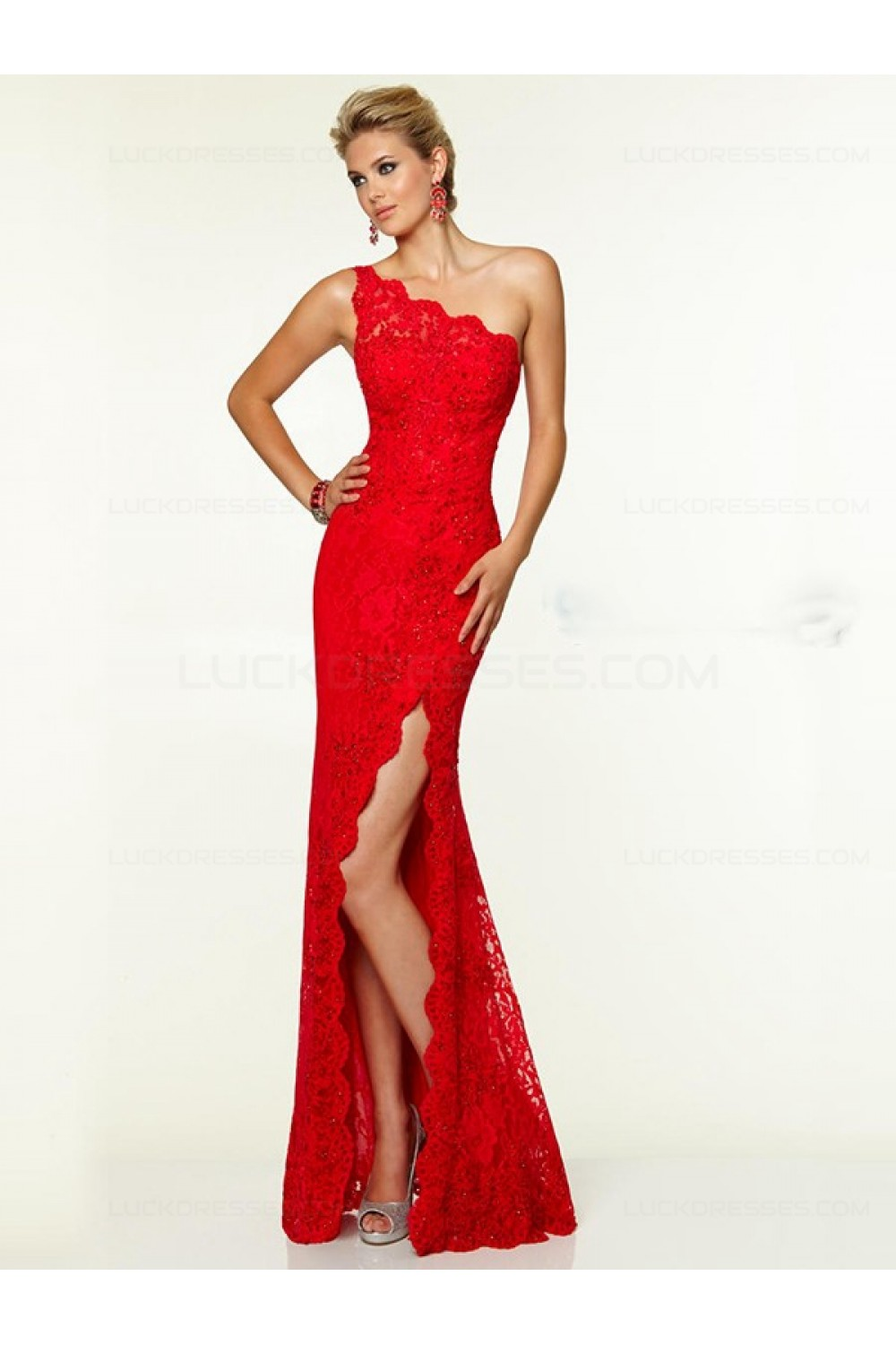 Red Lace Evening Dresses