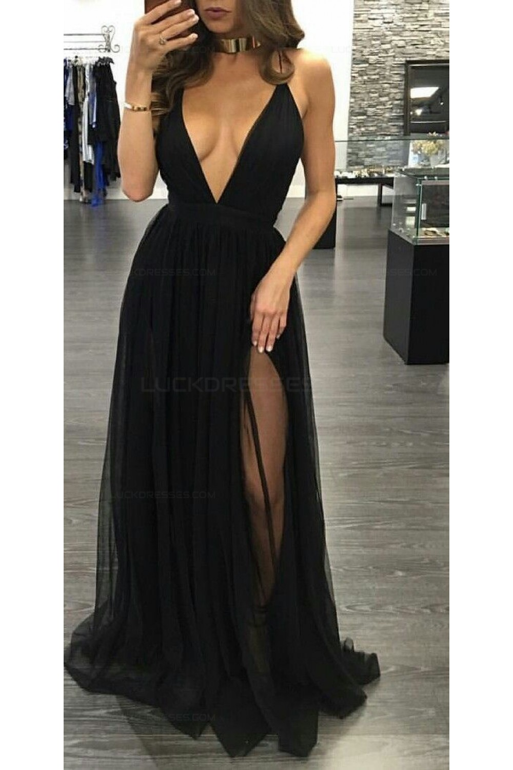 Long black ball gowns sexy