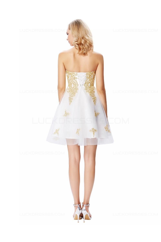 Gold lace prom dress-7041