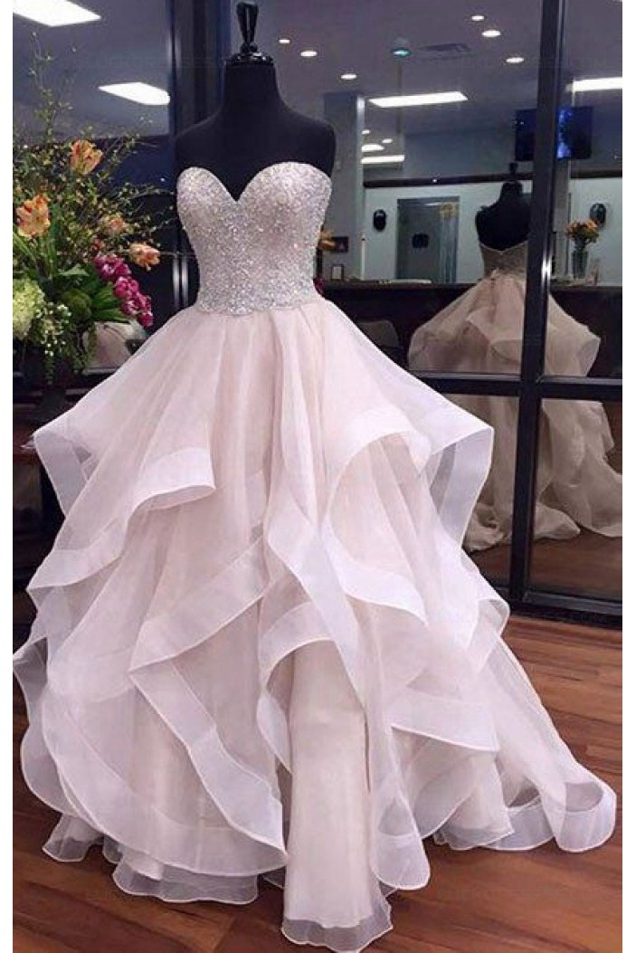 Beaded Sweetheart Long Prom Dresses Party Evening Gowns 3020430