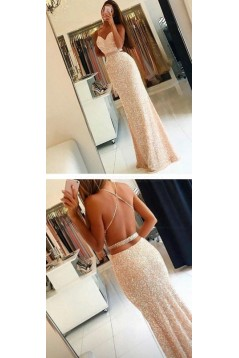 Beaded Sequins Long Prom Dresses Party Evening Gowns 3020461