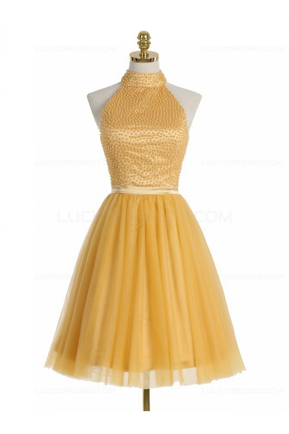 2273ca87a09 Short Yellow Homecoming Cocktail Prom Dresses 3020524