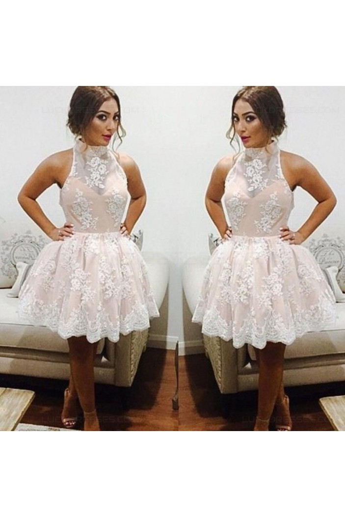 Short White Lace Homecoming Cocktail Prom Dresses Party Evening Gowns 3020539