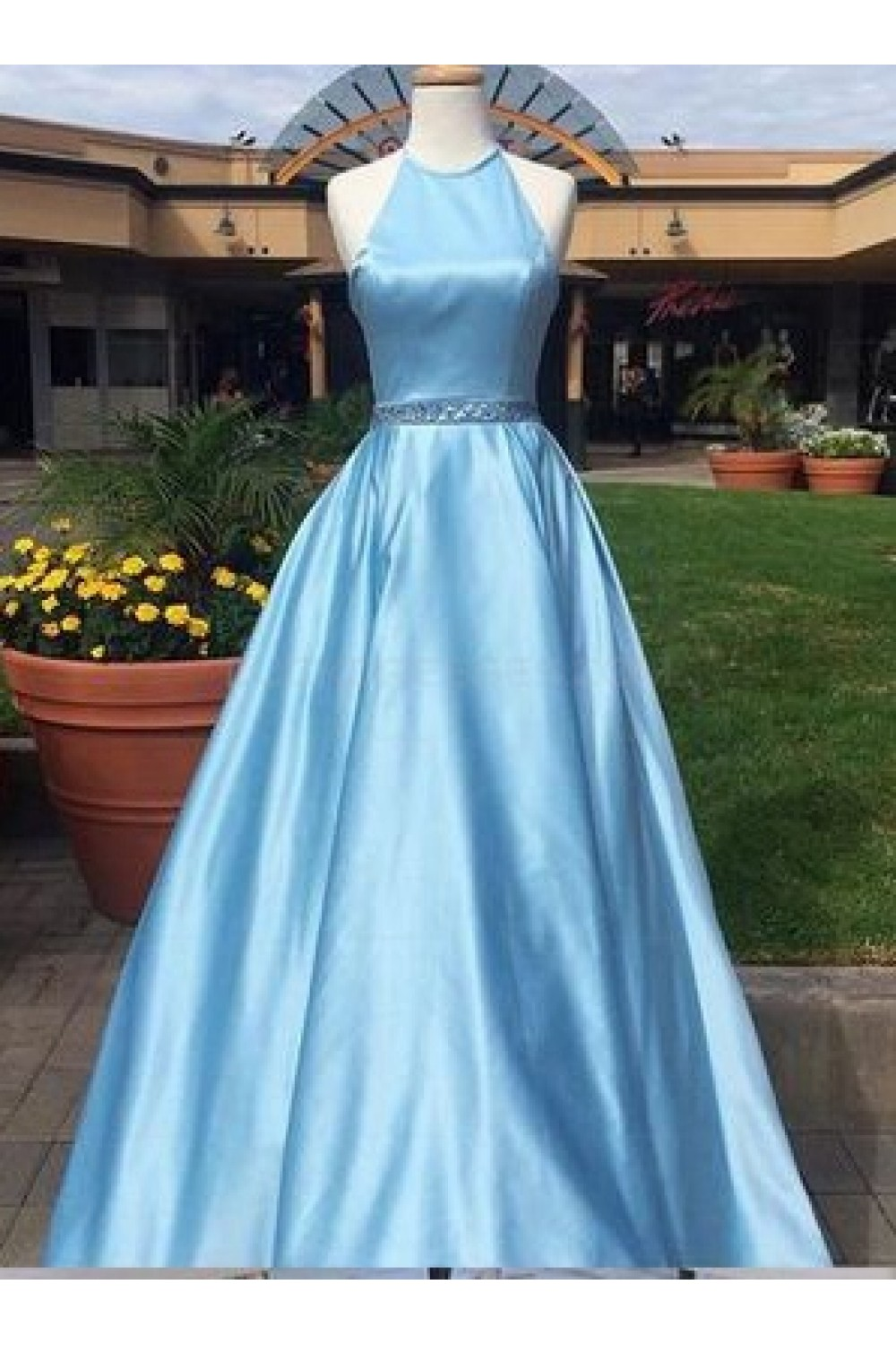 Line Beaded Long Prom Evening Party Dresses 3020658