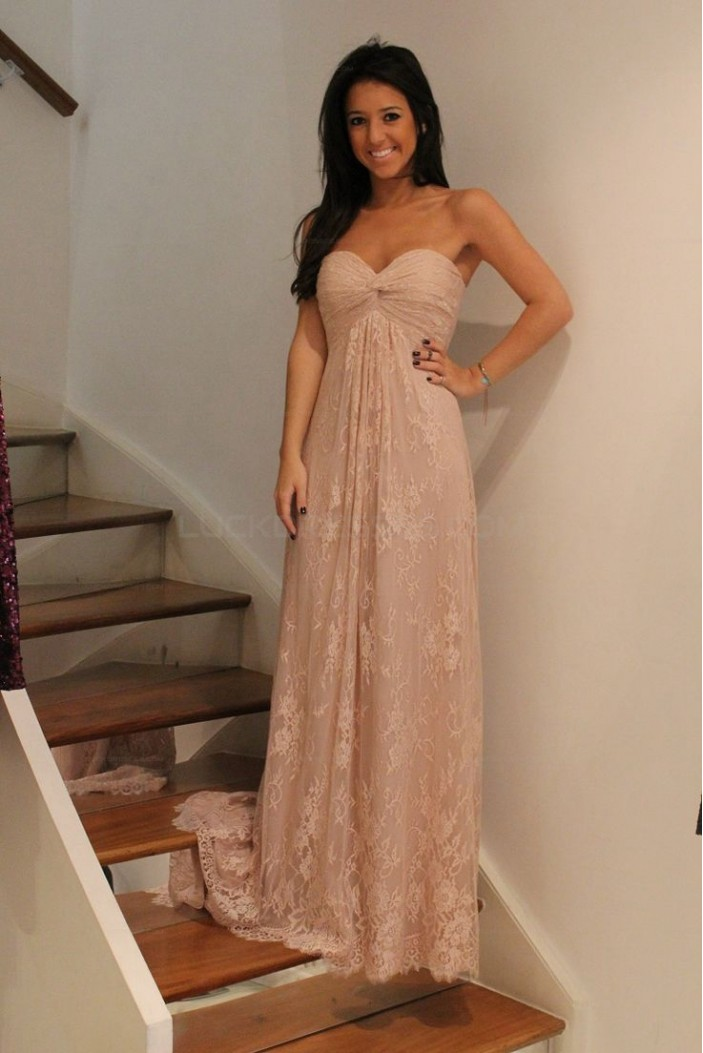 Empire Sweetheart Lace Long Prom Evening Party Maternity Dresses 3020714