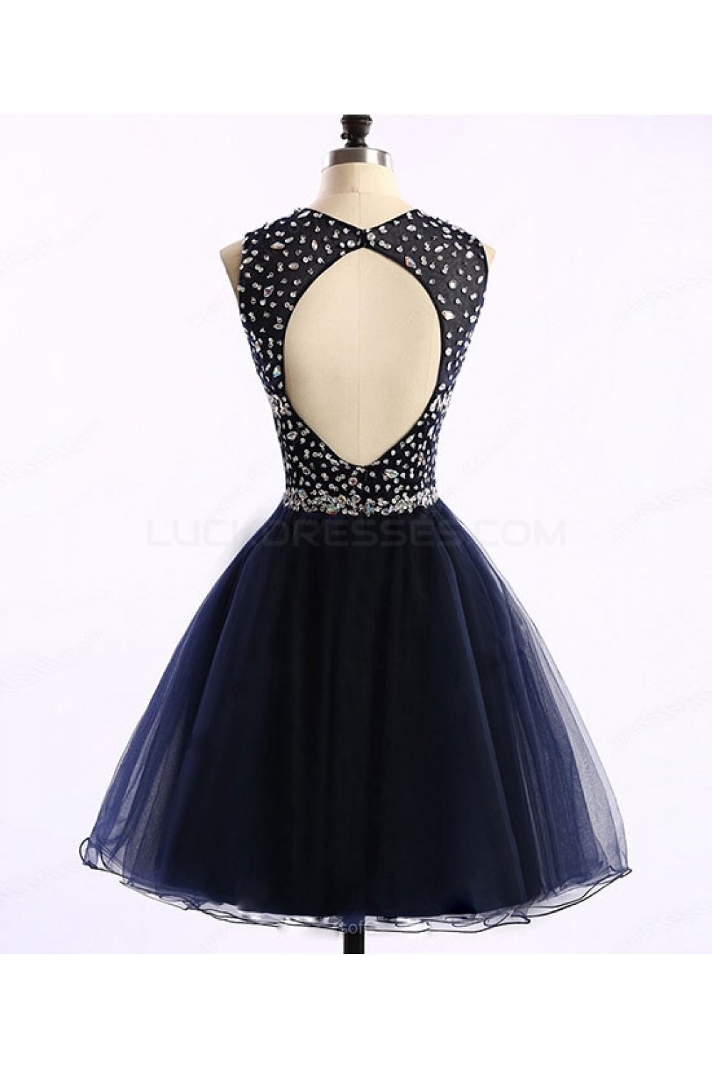 8c30fe980fc Short Navy Blue Beaded Prom Homecoming Graduation Dresses 3020763