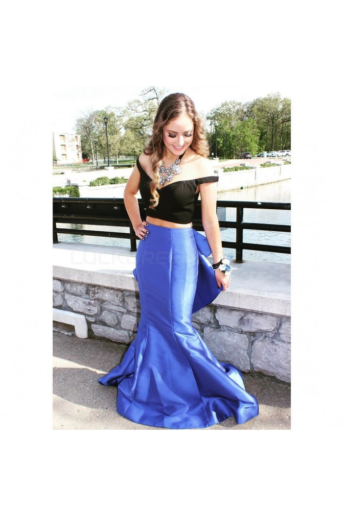 Mermaid Off-the-Shoulder Two Pieces Prom Formal Evening Party Dresses 3020837