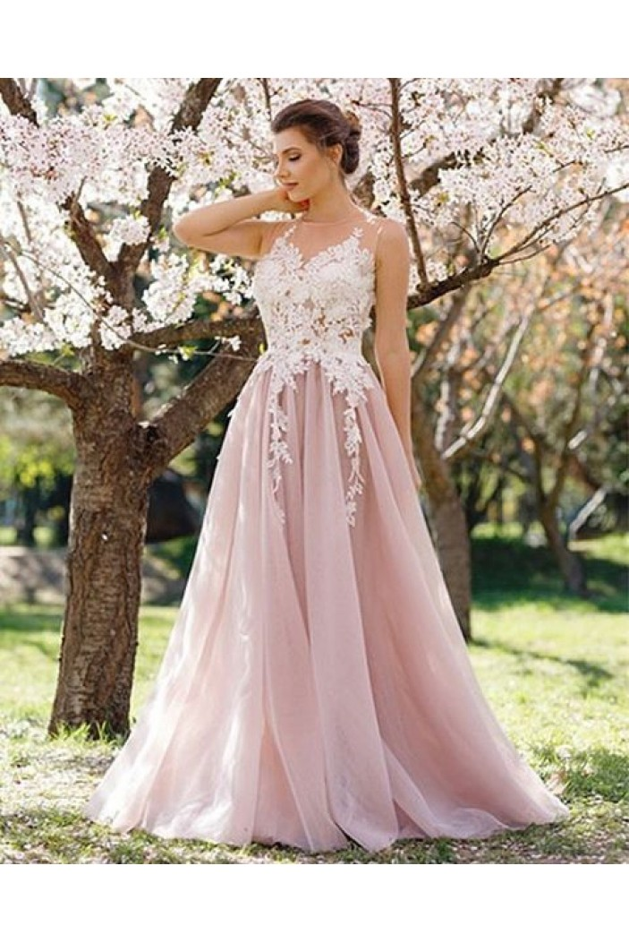 Elegant Lace Long Prom Formal Evening Party Dresses 3020854