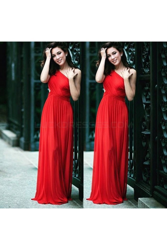 Long Red Chiffon Prom Formal Evening Party Dresses 3020921