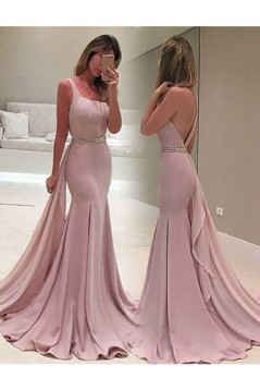 Mermaid One-Shoulder Beaded Long Prom Formal Evening Party Dresses 3020952