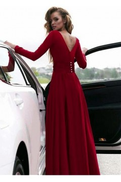 Cheap Long Sleeves Prom Dresses Evening Party Gowns 601115