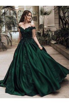 Ball Gown Off-the-Shoulder Long Prom Dresses Formal Evening Dresses 601140