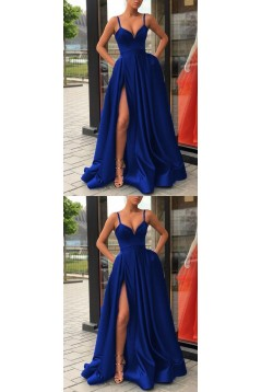 A-Line Spaghetti Straps Long Prom Dresses Formal Evening Dresses 601308