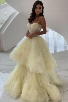 Stunning Tulle Long Prom Dress Formal Evening Dresses 601528