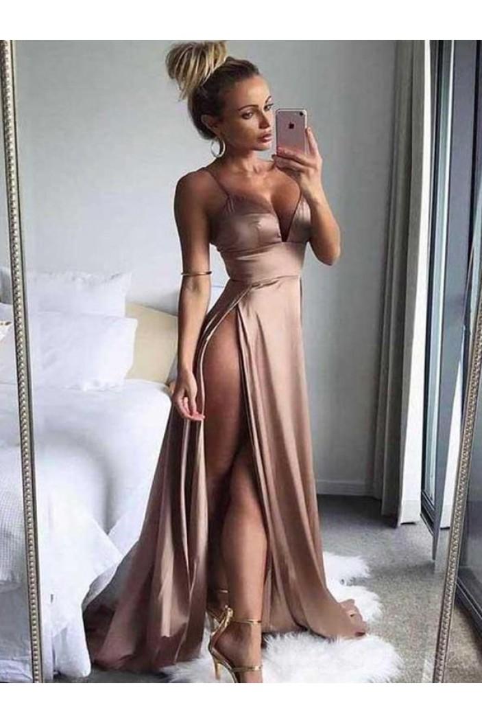 Sexy High Slits Long Prom Dress Formal Evening Dresses 601572