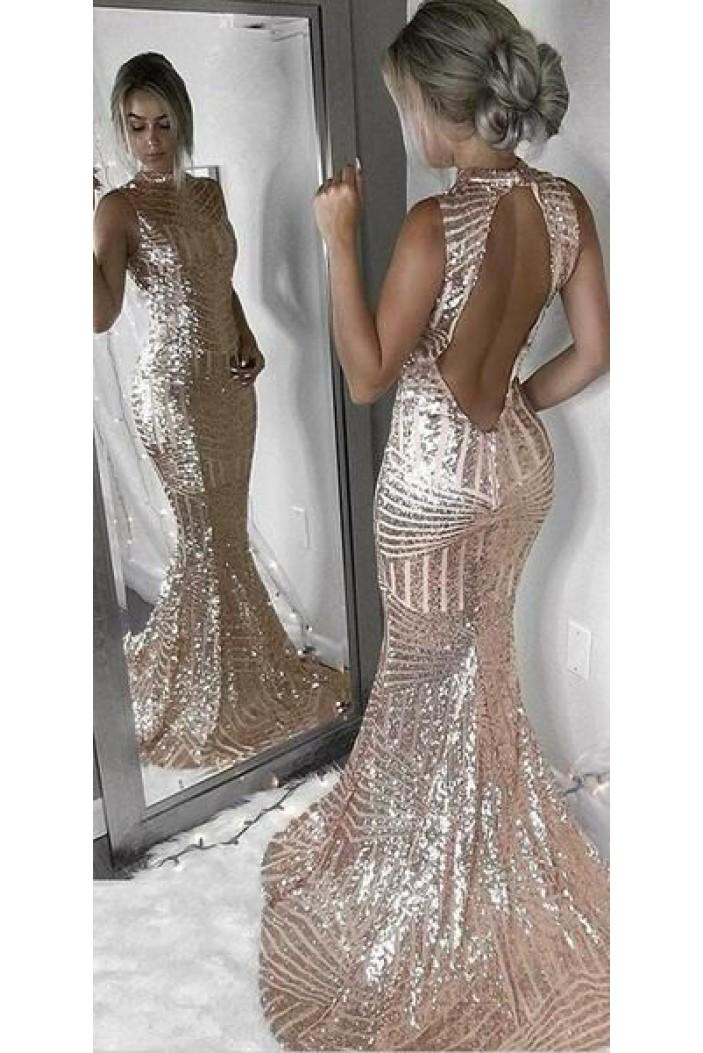 Mermaid Sparkle Long Prom Dress Formal Evening Dresses 601591