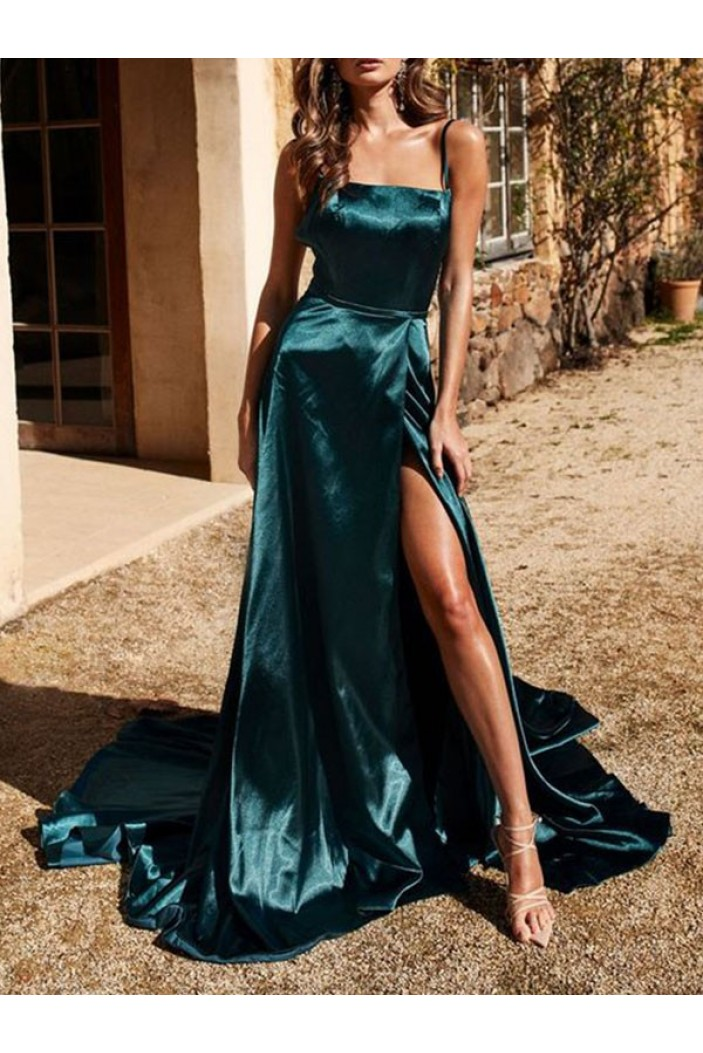 Simple A-Line Long Prom Dress Formal Evening Dresses 601678