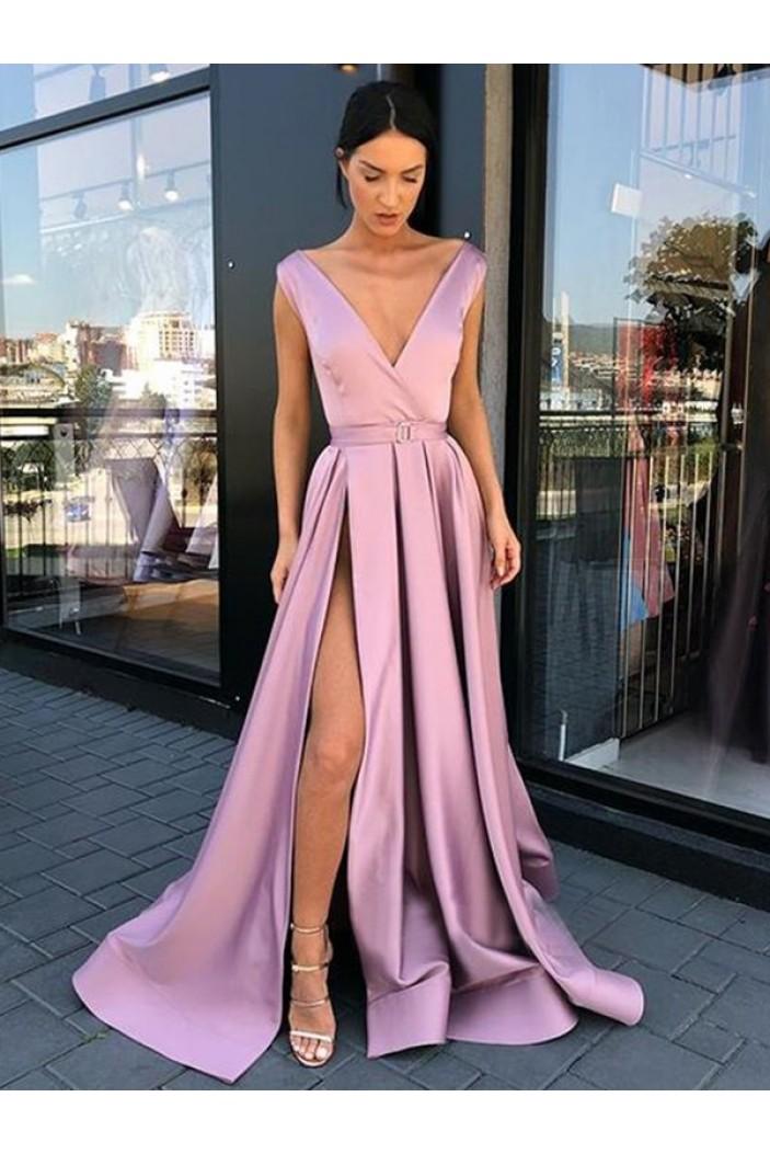 A-Line V-Neck Long Prom Dress Formal Evening Dresses 601697