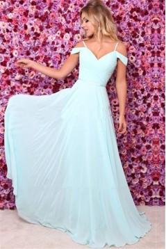 A-Line Chiffon Long Prom Dress Formal Evening Dresses 601783