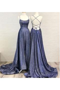 A-Line Sparkle Long Prom Dress Formal Evening Dresses 601801