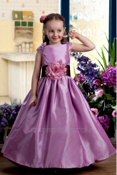 A-Line Straps Handmade Flowers Flower Girl Dresses 2050009