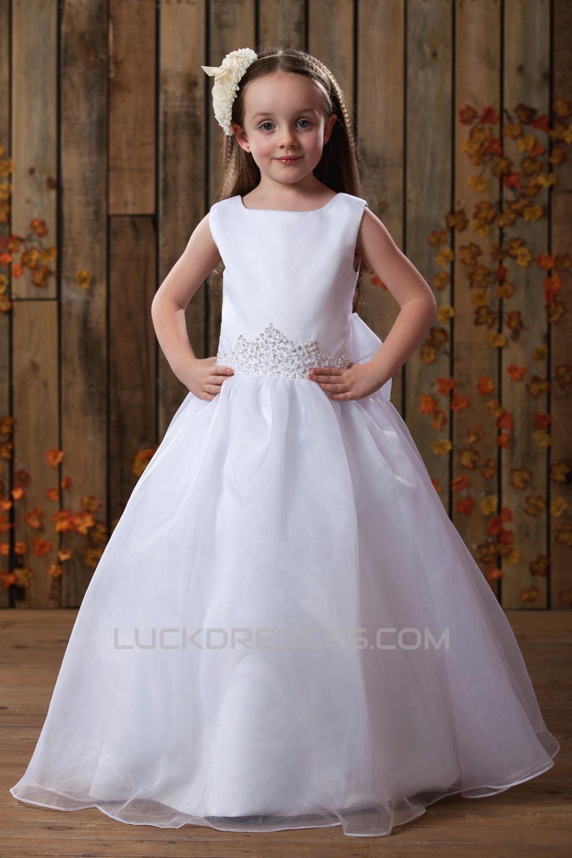 6e1e10627 A-Line Beaded Sequins Bowknot Flower Girl Dresses 2050010