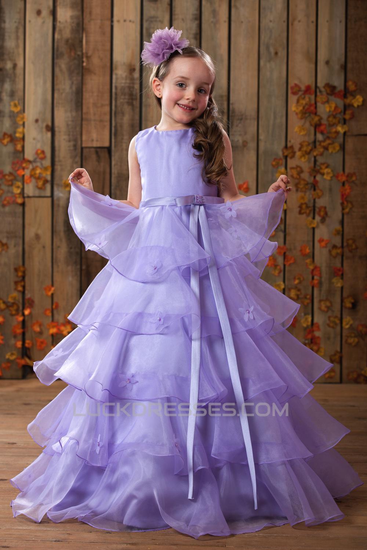 Ball Gown Floor Length Beaded Flower Girl Dresses 2050014