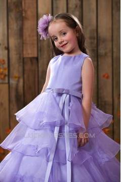 Ball Gown Floor Length Beaded Flower Girl Dresses 2050014