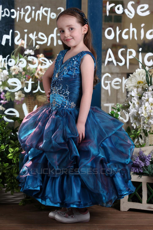 e5208e2bc31 Ball Gown V-Neck Flower Girl Dresses 2050019