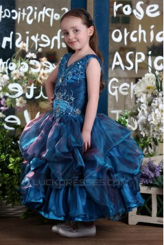 Ball Gown V-Neck Flower Girl Dresses 2050019