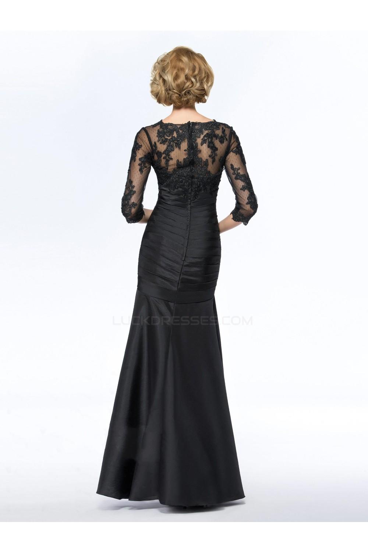 0f29ace60d Trumpet Mermaid V-Neck Long Black Mother of the Bride Dresses M010073