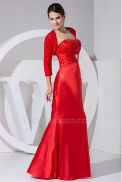 3/4 Sleeve Strapless A-Line Floor-Length Mother of the Bride Dresses with A Lace Jacket 2040001