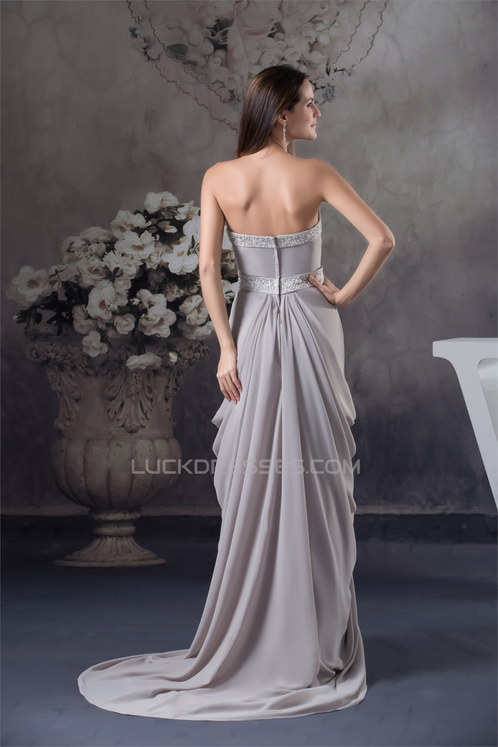 e19c447f1f81c0 Sheath Column Sweetheart Chiffon Puddle Train Long Mother of the Bride  Dresses with A Jacket 2040096