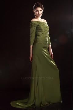 A-Line Off-the-Shoulder 3/4 Sleeve Mother of the Bride Dresses 2040216