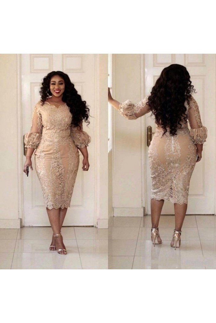 Short Lace Mother of The Bride Dresses 602109