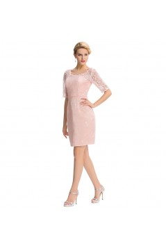 Short Pink Lace Mother of The Bride Dresses 602153