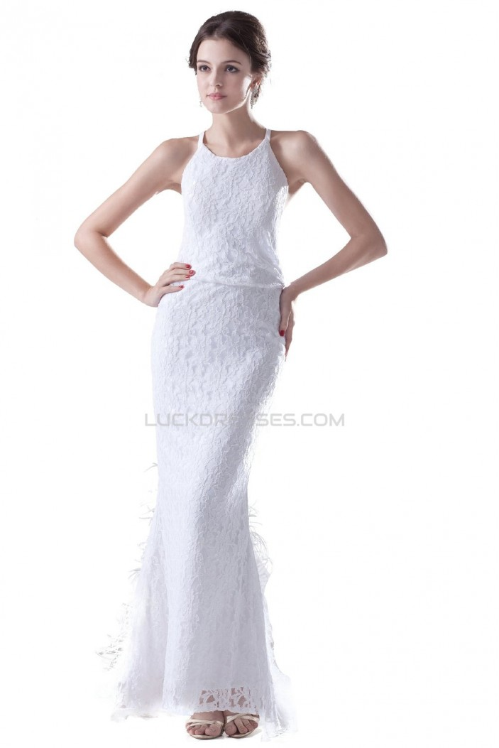 Modest trumpet mermaid sleeveless floor length lace for Modest lace wedding dresses