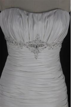Trumpet/Mermaid Strapless Beaded Lace Bridal Wedding Dresses WD010124