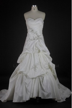 A-line Sweetheart Chapel Train Bridal Wedding Dresses WD010127