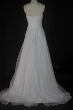 A-line Sweetheart Court Train Bridal Wedding Dresses WD010135