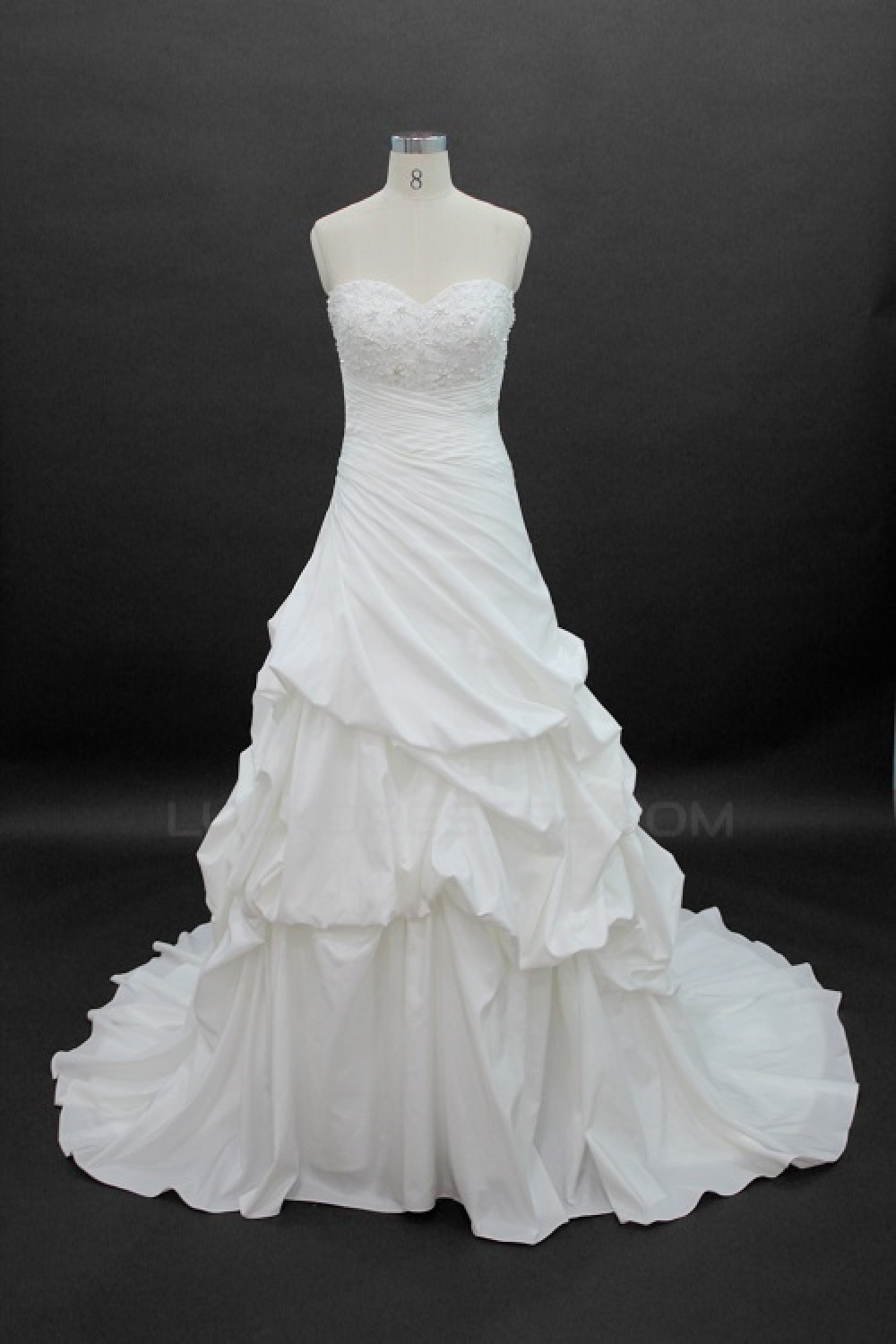 Affordable Ball Gown Sweetheart Chapel Train Bridal Wedding Dresses ...