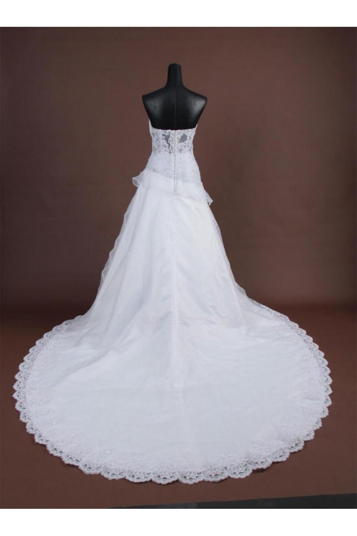 A-line Sweetheart Chapel Train Bridal Wedding Dresses WD010167