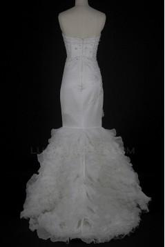 Trumpet/Mermaid Sweetheart Beaded Bridal Wedding Dresses WD010222