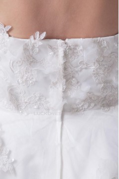 Short/Mini Applique Tulle Bridal Wedding Dress WD010252